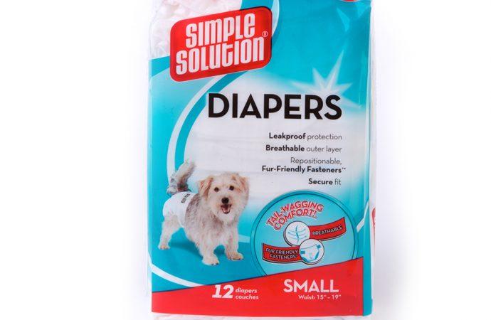 Test Simple Solution : Couche jetable pour chien, Mon avis